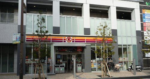 Kusatsu is a convenience store Kusatsu JR station near Osaka City K CIRCLE